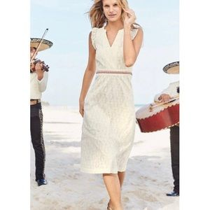Boden Hallie Broderie Midi Eyelet Dress Size 18